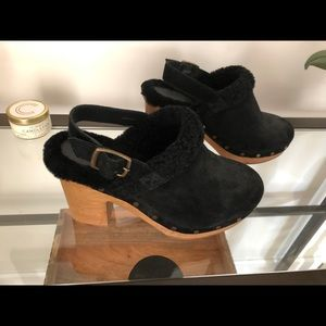 Madewell Lesley Shearling Clogs